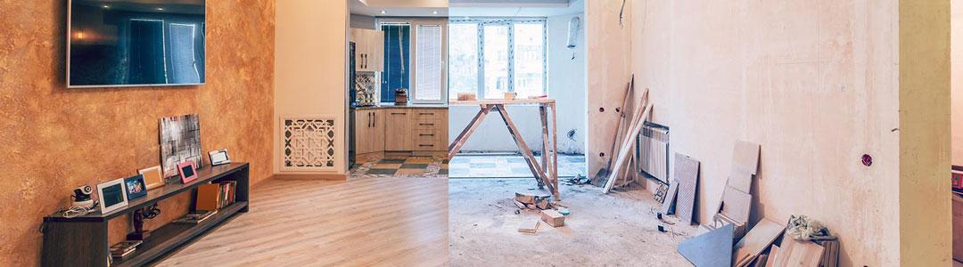 rénovation d'une vieille maison
